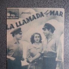 Folhetos de mão de filmes antigos de cinema: PROGRAMA CINE DOBLE: LA LLAMADA DEL MAR, MARALY ALOY, JORGE MISTRAL Y J MONFORT. Lote 149339133