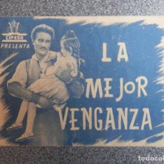 Cine: PROGRAMA CINE DOBLE: LA MEJOR VENGANZA, AMADEO NAZZARI, ELSA GIORGI. Lote 149339145