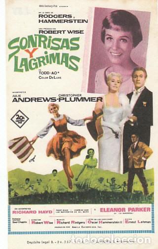 SONRISAS Y LAGRIMAS CON JULIE ANDREWS (Cine - Folletos de Mano - Musicales)