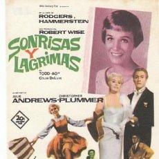 Cine: SONRISAS Y LAGRIMAS CON JULIE ANDREWS. Lote 149489370