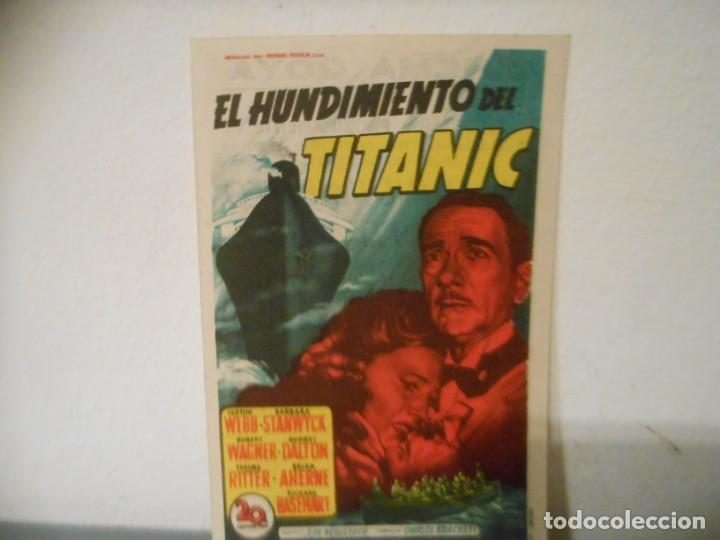 EL HUNDIMIENTO DEL TITANIC (Cine - Folletos de Mano - Drama)