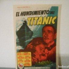 Cine: EL HUNDIMIENTO DEL TITANIC. Lote 149511210