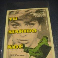 Cine: TU MARIDO NOS ENGAÑA - SIN PUBLICIDAD. Lote 149558746