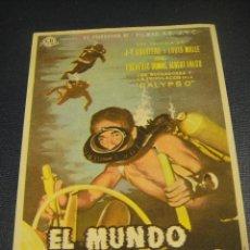 Cine: EL MUNDO DEL SILENCIO - IMPRESO AL DORSO. Lote 149626694