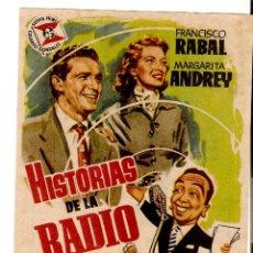 Folhetos de mão de filmes antigos de cinema: HISTORIAS DE LA RADIO - FRANCISCO RABAL, MARGARITA ANDREY - DIRECTOR JOSÉ LUIS SAEZ HEREDIA - JANO. Lote 149677006