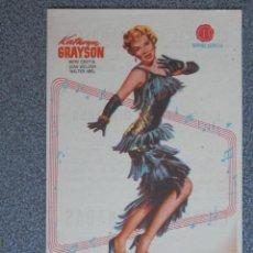 Foglietti di film di film antichi di cinema: PROGRAMA DE CINE: CUMBRES DORADAS CINE CASINO AGRAMUNTES. Lote 149770664