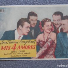 Cine: PROGRAMA DE CINE: MIS 4 AMORES. Lote 149770672