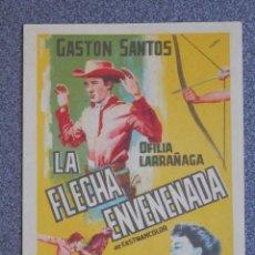 Flyers Publicitaires de films Anciens: PROGRAMA DE CINE: LA FLECHA ENVENENADA. Lote 149771376