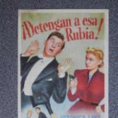 Foglietti di film di film antichi di cinema: PROGRAMA DE CINE: DETENGAN A ESA RUBIA CINEMA GOYA ZARAGOZA. Lote 149771384