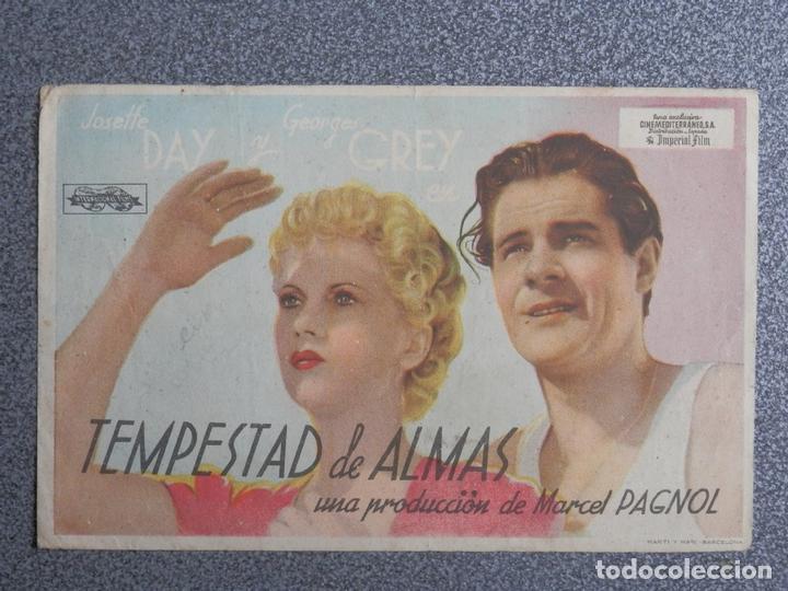 PROGRAMA DE CINE: TEMPESTAD DE ALMAS JOSEFFE DAY (Cine - Folletos de Mano - Clásico Español)
