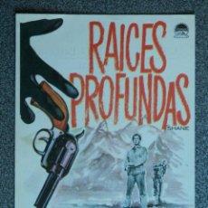 Cine: PROGRAMA DE CINE: RAICES PROFUNDAS ALAN LADD - JEAN ARTHUR - VAN HEFLIN. Lote 149772482