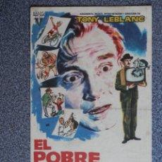 Cine: PROGRAMA DE CINE: EL POBRE GARCÍA - BARBASTRO HUESCA. Lote 149772560