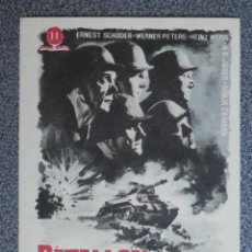 Flyers Publicitaires de films Anciens: PROGRAMA DE CINE: BATALLÓN DE CASTIGO ERNEST SCHODER WERNER PETERS H WEISS. Lote 149772724