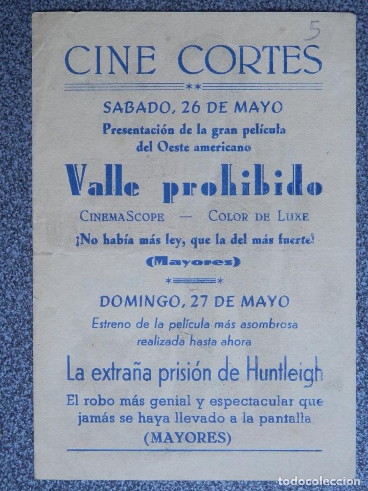 Cine: PROGRAMA DE CINE: VALLE PROHIBIDO - BARBASTRO HUESCA - Foto 2 - 149772838