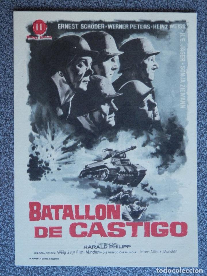 PROGRAMA DE CINE: BATALLÓN DE CASTIGO - BARBASTRO HUESCA (Cine - Folletos de Mano - Acción)