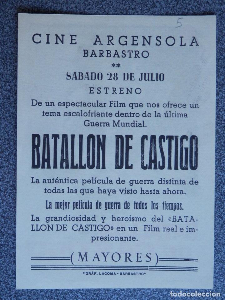 Cine: PROGRAMA DE CINE: BATALLÓN DE CASTIGO - BARBASTRO HUESCA - Foto 2 - 149772846