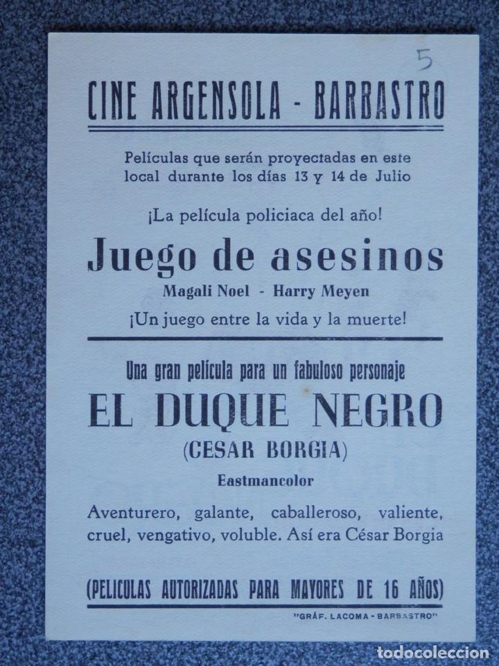 Cine: PROGRAMA DE CINE: EL DUQUE NEGRO - BARBASTRO HUESCA - Foto 2 - 149772850