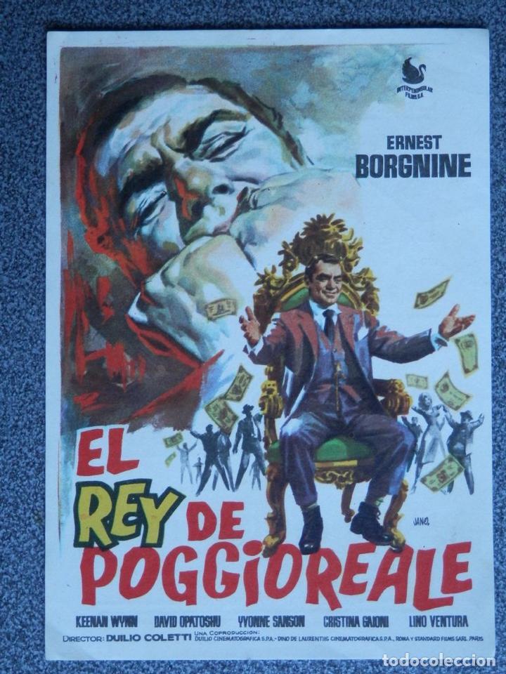 PROGRAMA DE CINE: EL REY DE POGGIOREALE - BARBASTRO HUESCA (Cine - Folletos de Mano - Acción)