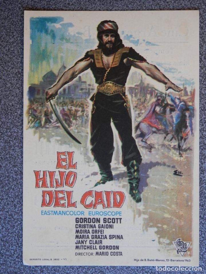 PROGRAMA DE CINE: EL HIJO DEL CAID - BARBASTRO HUESCA (Cine - Folletos de Mano - Acción)