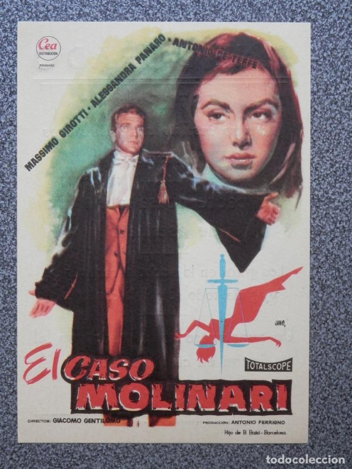 PROGRAMA DE CINE: EL CASO MOLINARI CINE DORADO ZARAGOZA (Cine - Folletos de Mano - Acción)