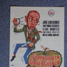Cine: PROGRAMA DE CINE: SUSPENDIDA EN SINVERGÜENZA - BARBASTRO HUESCA. Lote 149773389