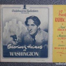 Cine: PROGRAMA DE CINE DOBLE: SHERLOCK HOLMES EN WASHINGTON BASIL RATHBONE. Lote 149774150