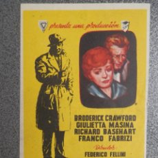 Foglietti di film di film antichi di cinema: PROGRAMA DE CINE: ALMAS SIN CONCIENCIA SELLOS POLICÍA ZARAGOZA. Lote 149774670