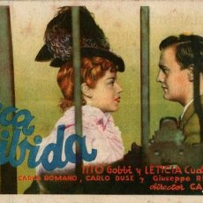 Cine: PROGRAMA CINE: MÚSICA PROHIBIDA, MARÍA MERCADER, TITO GOBBI. Lote 149830034