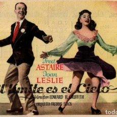 Foglietti di film di film antichi di cinema: PROGRAMA CINE: EL LÍMITE ES EL CIELO, FRED ASTAIRE, JOAN LESLIE. Lote 149830098