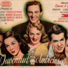 Folhetos de mão de filmes antigos de cinema: PROGRAMA CINE: JUVENTUD AMBICIOSA, WILLIAM HOLDEN, SUSAN HAYWARD. Lote 149830102