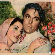 Cine: PROGRAMA CINE: LA SALVAJE BLANCA, MARÍA MONTEZ, JON HALL, SABU, CON SORTEO. Lote 149830158