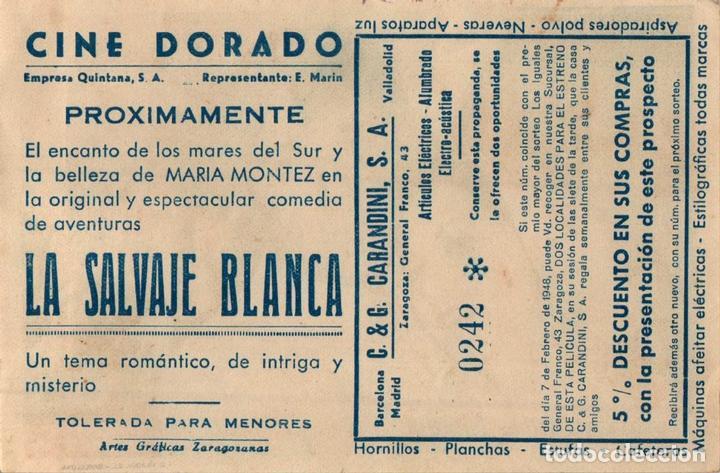 Cine: PROGRAMA CINE: LA SALVAJE BLANCA, MARÍA MONTEZ, JON HALL, SABU, CON SORTEO - Foto 2 - 149830158