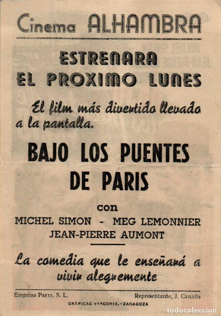 Cine: PROGRAMA CINE: BAJO LOS PUENTES DE PARÍS, MICHEL SIMON, JEAN PIERRE AUMONT - Foto 2 - 149830174