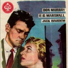 Cine: PROGRAMA CINE: LA NOCHE DE LOS MARIDOS, DON MURRAY, E G MARSHALL, JACK WARDEM. Lote 149830246