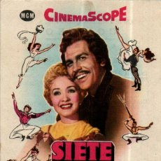 Cine: PROGRAMA CINE: SIETE NOVIAS PARA SIETE HERMANOS, JANE POWELL, HOWARD KEEL. Lote 149830254