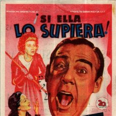 Cine: PROGRAMA CINE: ¡SI ELLA SUPIERA!, PAUL DOUGLAS, LINDA DARNELL. Lote 149830266