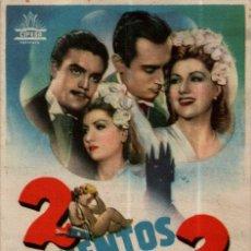 Cine: PROGRAMA CINE: 2 CUENTOS PARA 2, TONY LEBLANC, CARLOTA BILBAO, JOSÉ ISBERT. Lote 149830270