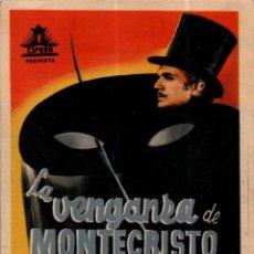 Cine: PROGRAMA CINE: LA VENGANZA DE MONTECRISTO, PIERRE RICHARD WILLM. Lote 149830286