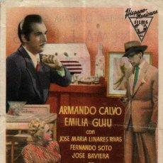 Cine: PROGRAMA CINE: LA MUJER DEL OTRO, ARMANDO CALVO, EMILIA GUIU. Lote 149830322