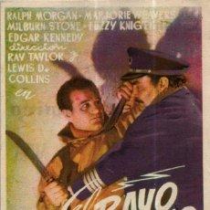 Cine: PROGRAMA CINE: EL RAYO ATÓMICO, RALPH MORGAN, MARJORIE WEAVERS. Lote 149830342