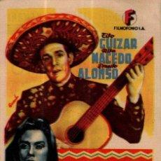 Cine: PROGRAMA CINE: EL GALLERO, TITO GUIZAR, RITA MACEDO. Lote 149830354