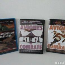 Flyers Publicitaires de films Anciens: 3 DVD DOCUMENTALES DE GUERRA. Lote 149835670