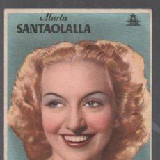 Flyers Publicitaires de films Anciens: MARTA SANTAOLALLA - PROGRAMA SENCILLO CIFESA CON PUBLICIDAD RF-2184 , BUEN ESTADO. Lote 149939114