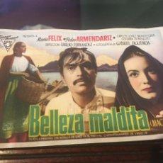 Cine: PROGRAMA DE CINE BELLEZA MALDITA SIMPLE. Lote 176126897