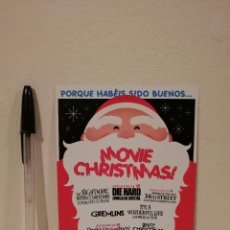 Folhetos de mão de filmes antigos de cinema: POSTAL ORIGINAL -10*15- MOVIE CHRISTMAS - FESTIVAL CINE - JUNGLA DE CRISTAL - GREMLINS. Lote 273028373