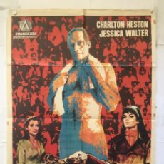 Cine: EL NUMERO UNO - POSTER CARTEL ORIGINAL - CHARLTON HESTON NUMBER ONE RUGBY FUTBOL AMERICANO JANO. Lote 150075222