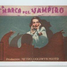 Cine: PROGRAMA DE CINE DOBLE - LA MARCA DEL VAMPIRO / LIONEL BARRYMORE - SIN PUBLICIDAD - METRO GOLDWYN. Lote 150077668