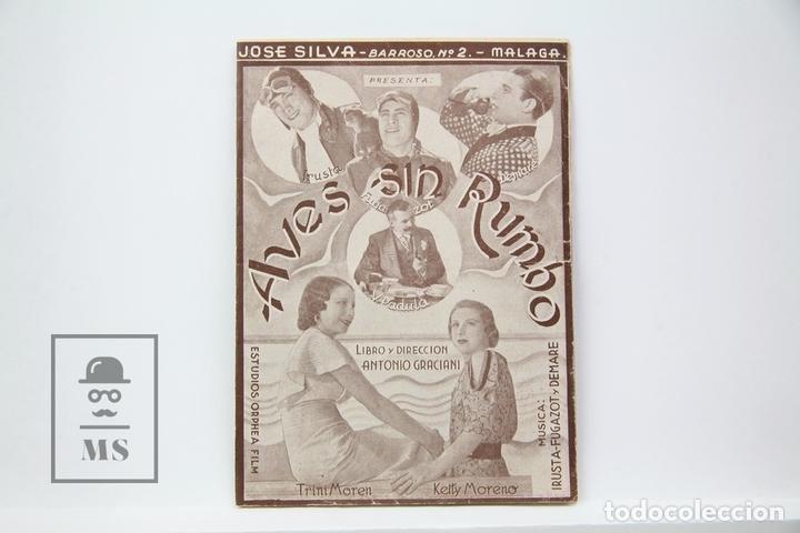 PROGRAMA DE CINE DOBLE - AVES SIN RUMBO / TRINI MOREN KETTY MORENO - ORPHEA FILM - SIN PUBLICIDAD (Cine - Folletos de Mano - Musicales)