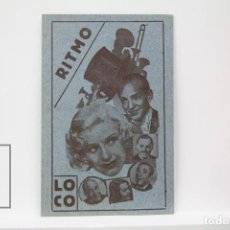 Cine: PROGRAMA DE CINE SIMPLE - RITMO LOCO / FRED ASTAIRE Y GINGER ROGERS - PUBLICIDAD - AÑO 1939. Lote 150080858