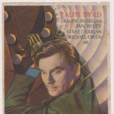 Cine: PROGRAMA DE CINE - UNOS SEGUNDOS DE VIDA - RALPH BYRD, RALPH MORGAN - DORSO EN BLANCO. Lote 150117702